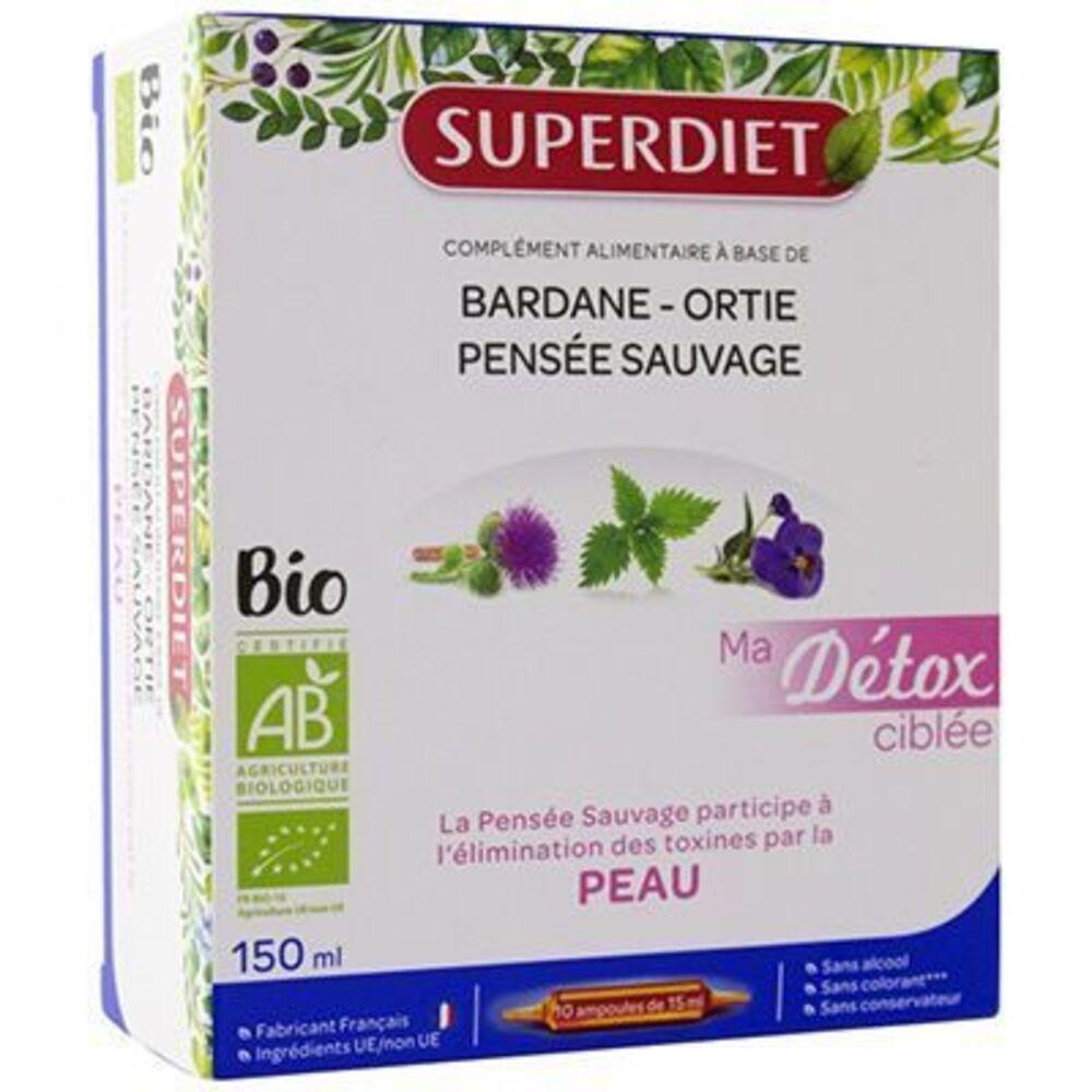 Superdiet ma détox ciblée peau bio 10 ampoules Super diet-225298