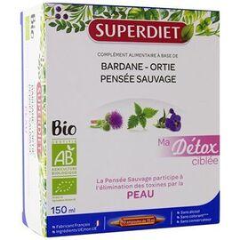 Superdiet ma détox ciblée peau bio 10 ampoules - super diet -225298