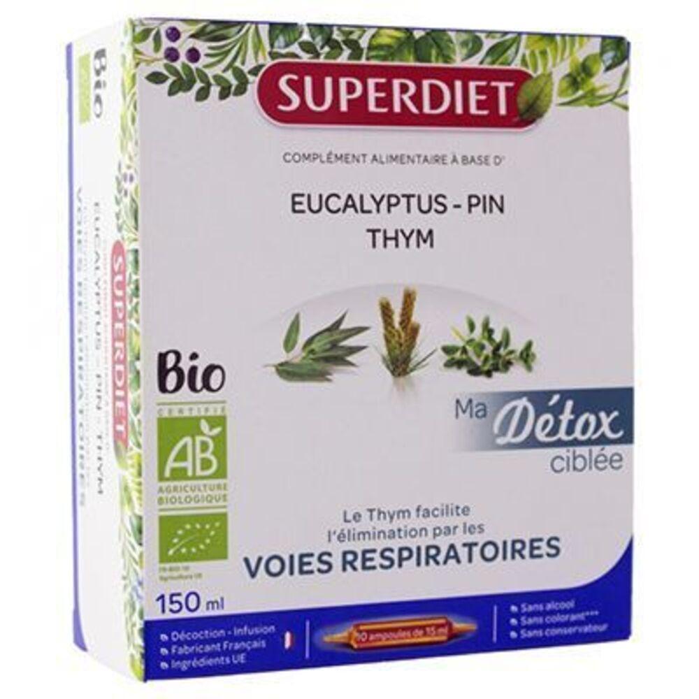 Superdiet ma détox ciblée voies respiratoires bio 10 ampoules Super diet-225300