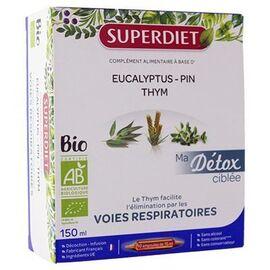 Superdiet ma détox ciblée voies respiratoires bio 10 ampoules - super diet -225300