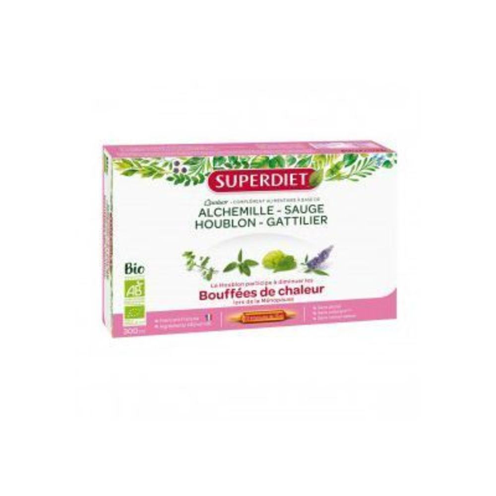 Superdiet quatuor ménopause 20 ampoules Super diet-210353