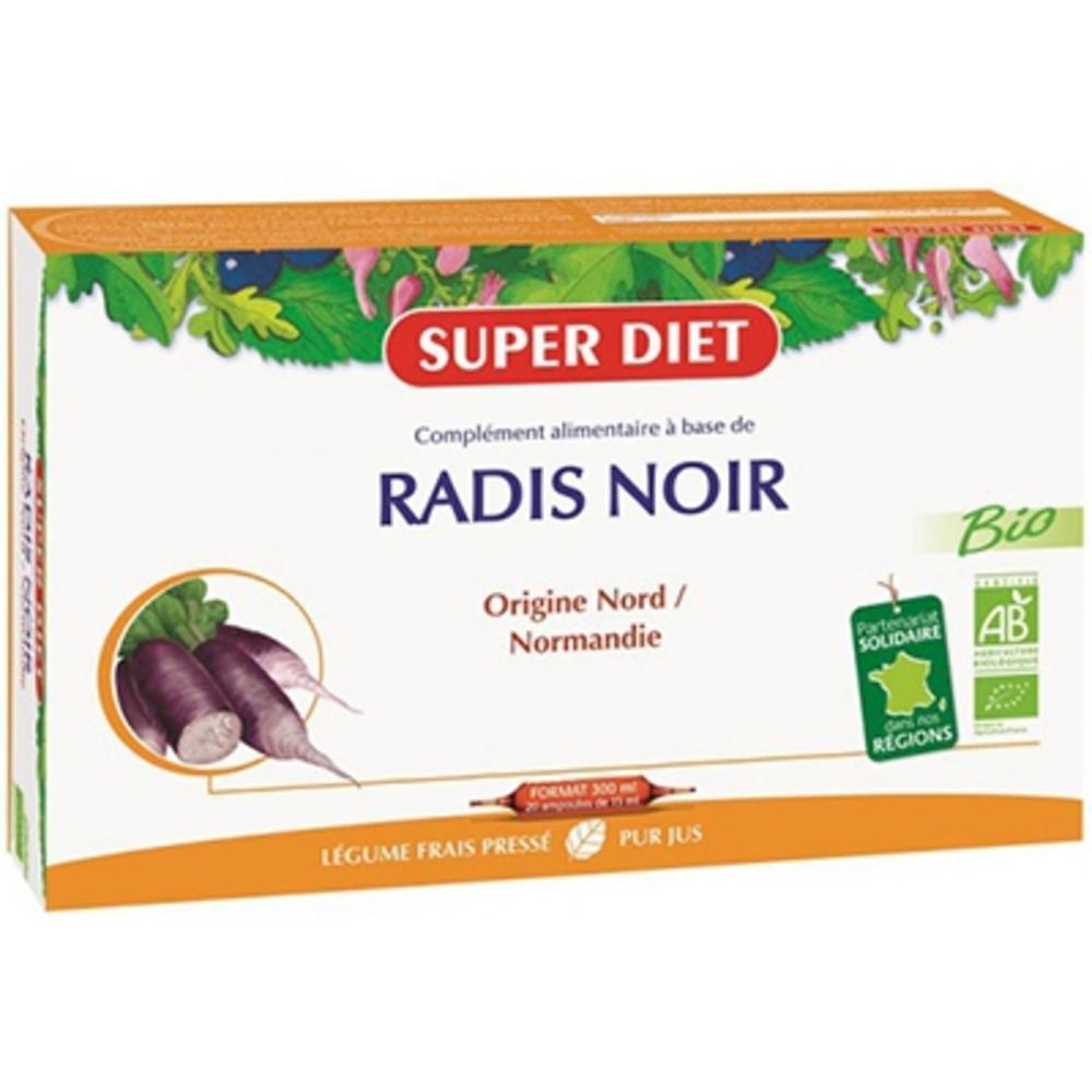 Superdiet radis noir - 20.0 unites - digestion bien être - super diet Digestion et élimination-4444