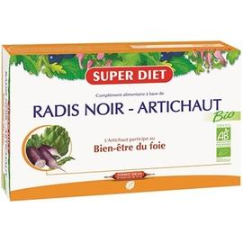 Superdiet radis noir artichaut - 20.0 unites - digestion bien être - super diet Santé du foie et digestion-4445
