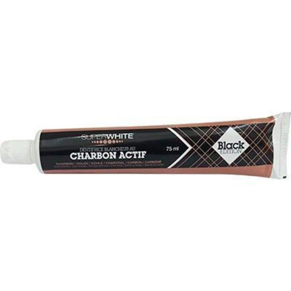 Superwhite dentifrice blancheur au charbon actif black edition 75ml - superwhite -222862