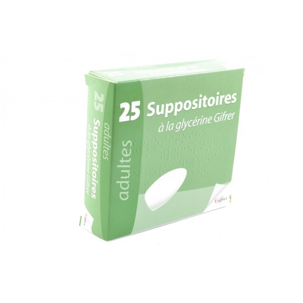 Suppositoires à la glycéerine adulte x25 - gifrer -192561