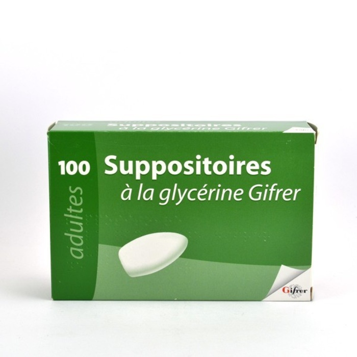 Suppositoires à la glycérine adulte x100 Gifrer-192876
