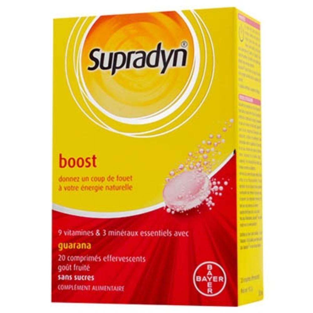 SUPRADYN Boost Guarana 20 comprimés effervescents - Bayer -91085