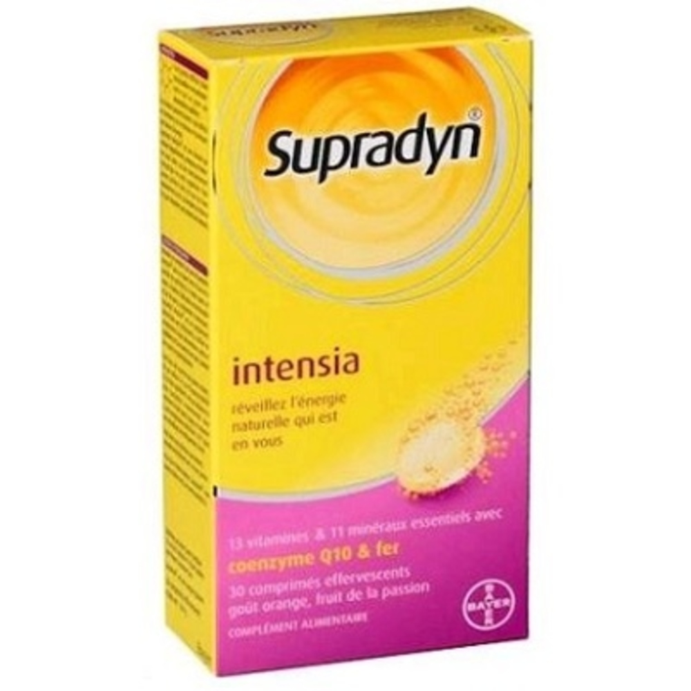 Supradyn intensia - 30 comprimés effervescents - bayer -82163