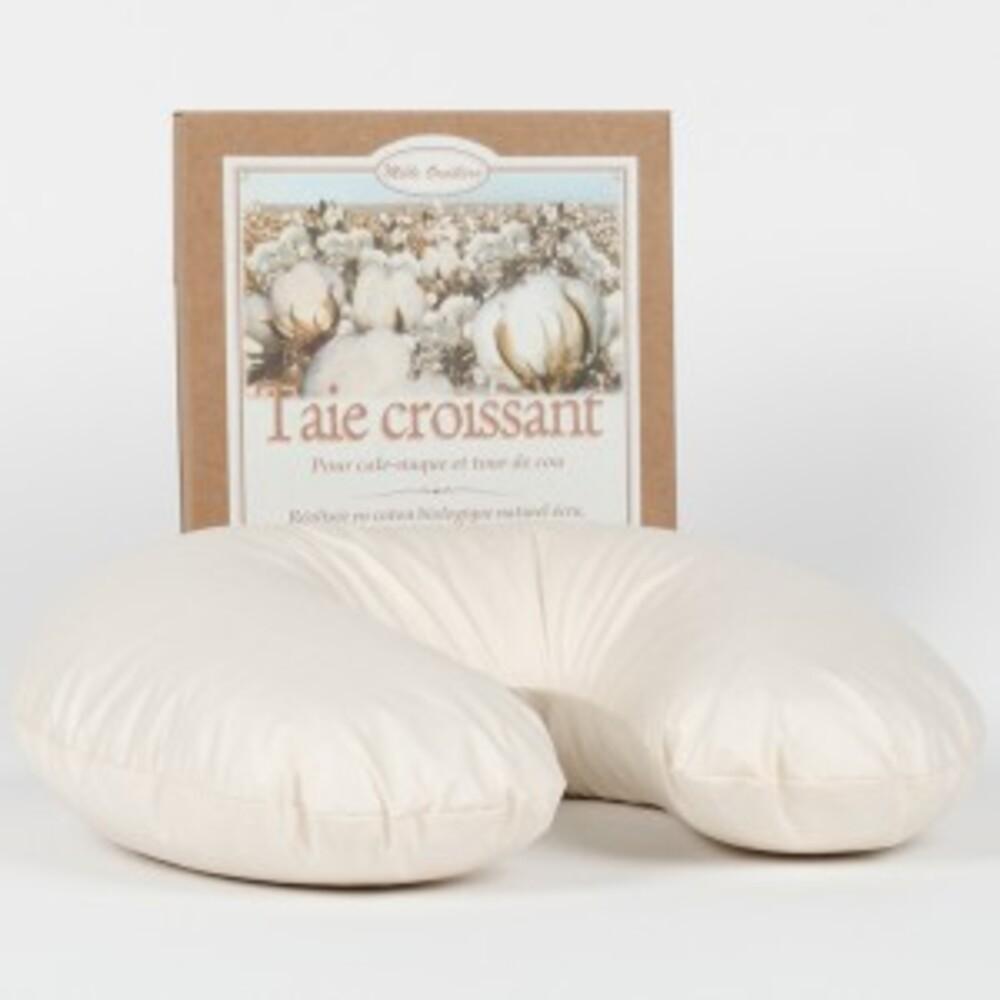 Taie croissant (pour cale nuque et tour de cou cerises) coton naturel... - divers - mille oreillers -189530