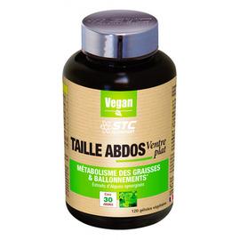 Taille abdos ventre plat 120 gélules - 120.0 unites - stc nutrition -11361