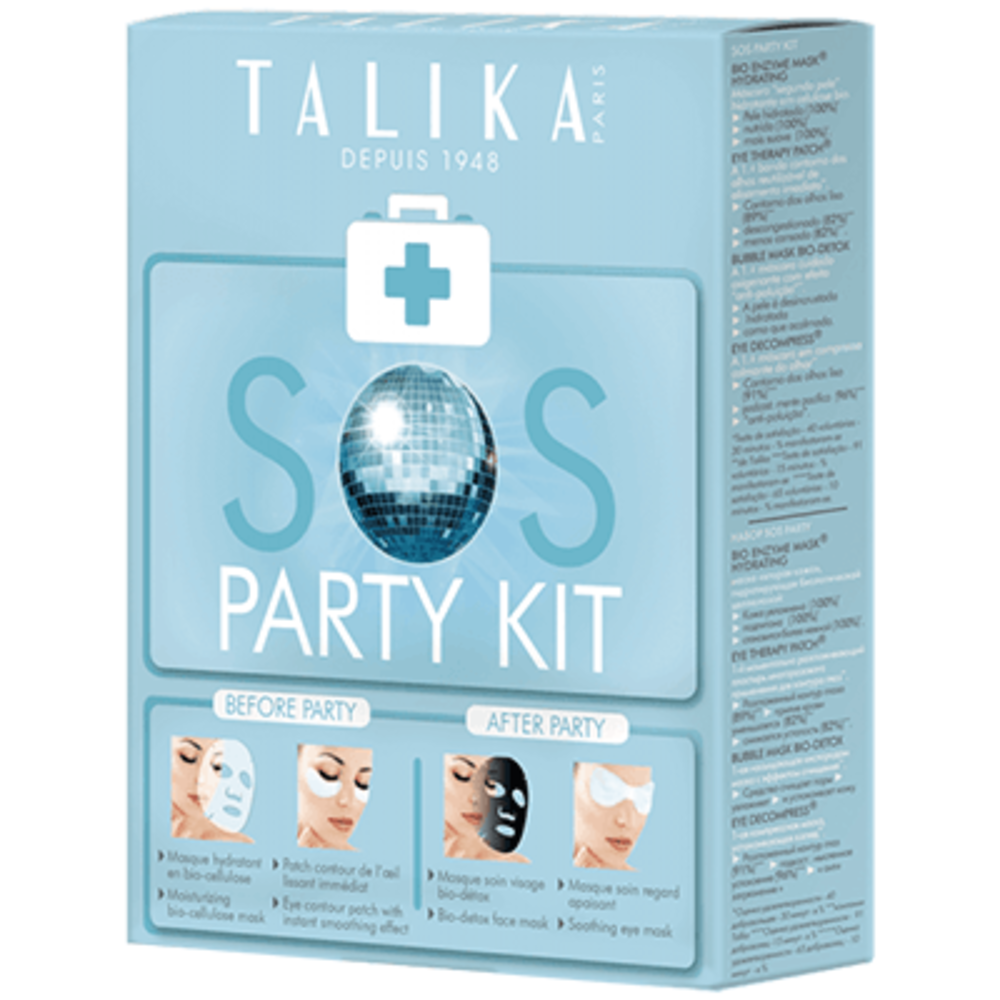 Talika sos party kit coffret 4 masques - talika -216434