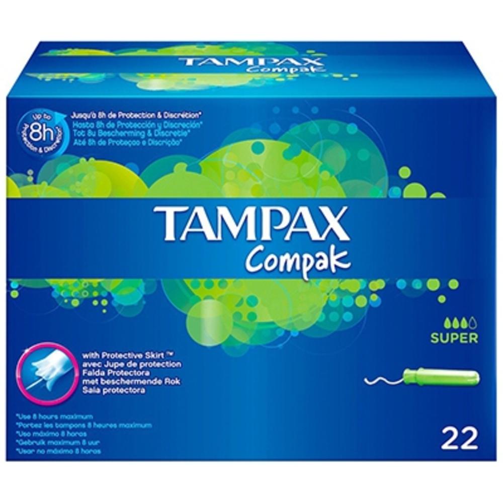Tampax compak super hygiène féminine x 22 - tampax -206107