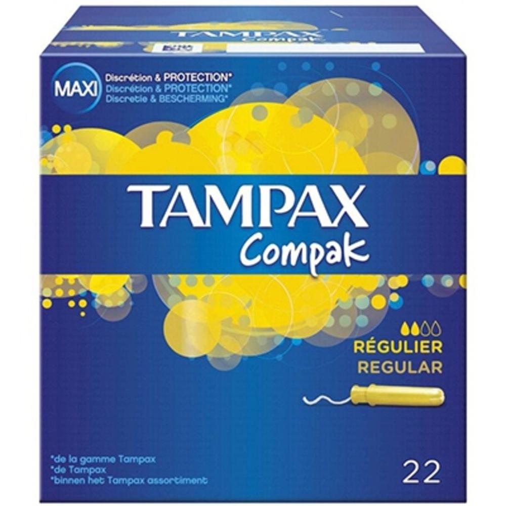 Tampax tampons compak régulier x22 - tampax -206104