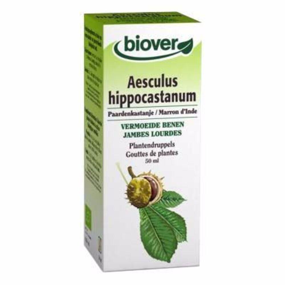 Teinture Mère Marron d'Inde Aesculus Hippocastanum Bio - 50.0 ml - Gouttes de plantes - teintures mères - Biover Pour des jambes légères-8947