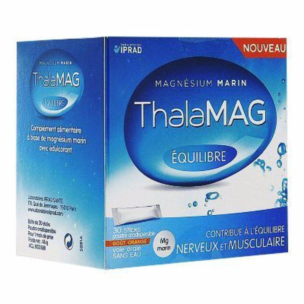 Thalamag equilibre magnésium marin 30 sticks - iprad -215271