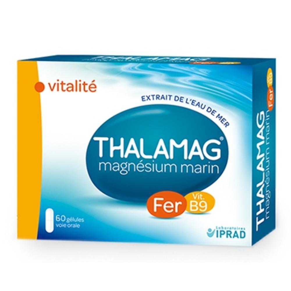 Thalamag vitalité fer vitamine b9 - 60 gélules - iprad -203293