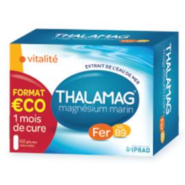 Thamalag vitalité fer vit.b9 magnésium marin 2x60 gélules - thalamag -222440