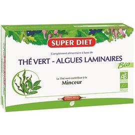 Thé vert algues laminaires - 20.0 unites - minceur - super diet Réduction du surpoids et accèlération de l'élimination-4434