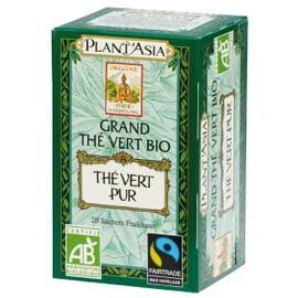 Thé vert pur max havelaar - 20.0 unites - thés bio - plant'asia -16215