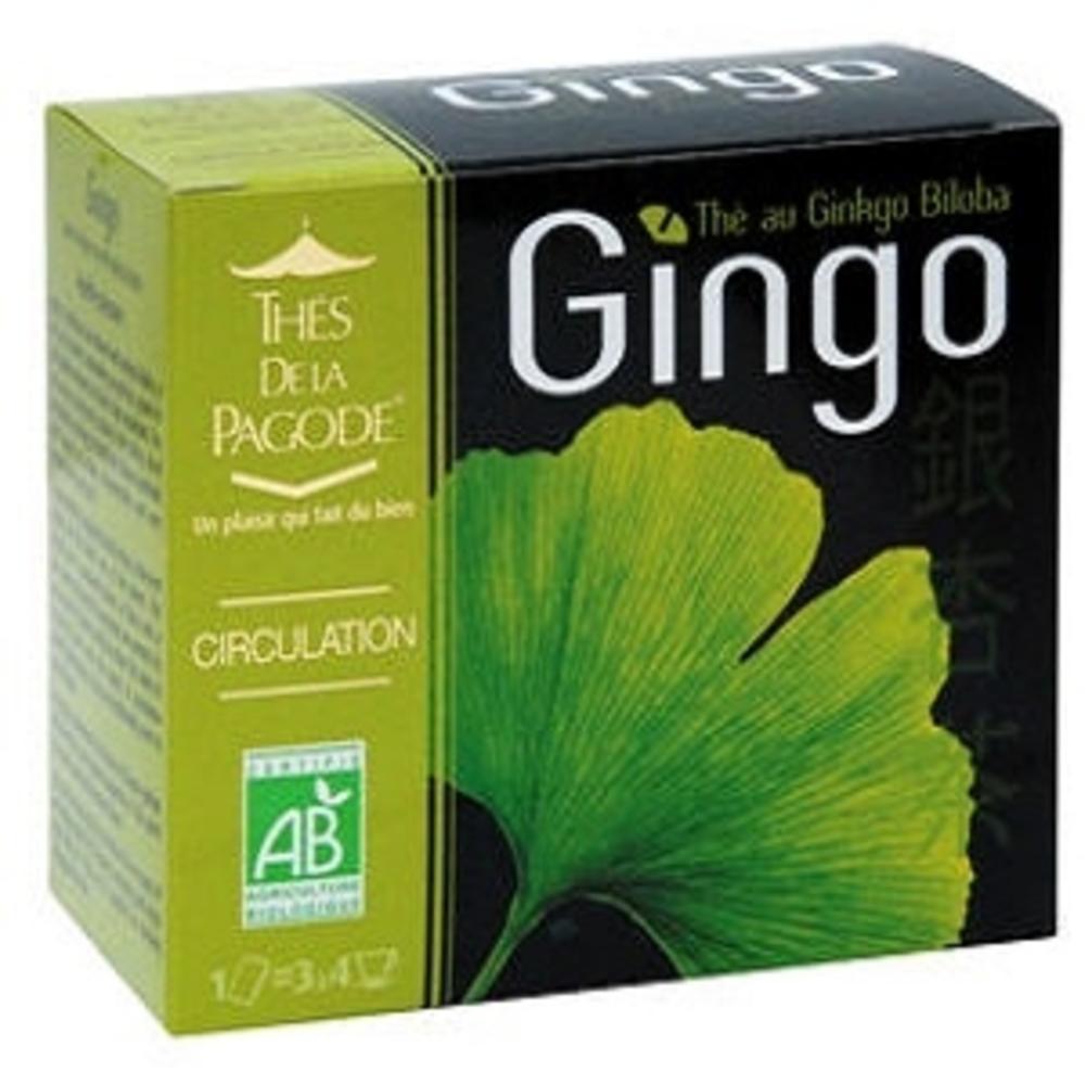 Thes de la pagode gingo - 30 sachets - 30.0 unites - gamme santé - thés de la pagode Circulation-120799