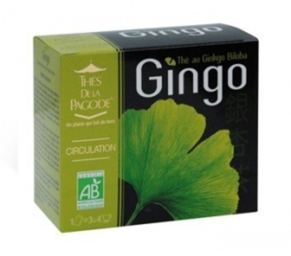 Thes de la pagode gingo - 90 sachets - 90.0 unites - gamme santé - thés de la pagode Circulation-120800