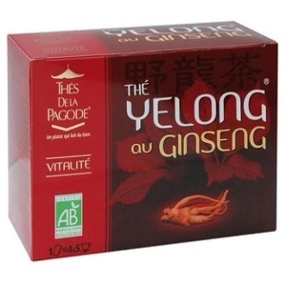 Thes de la pagode yelong au ginseng - 30.0 unites - gamme santé - thés de la pagode Fatigue - Stresse - Vitalité-121021