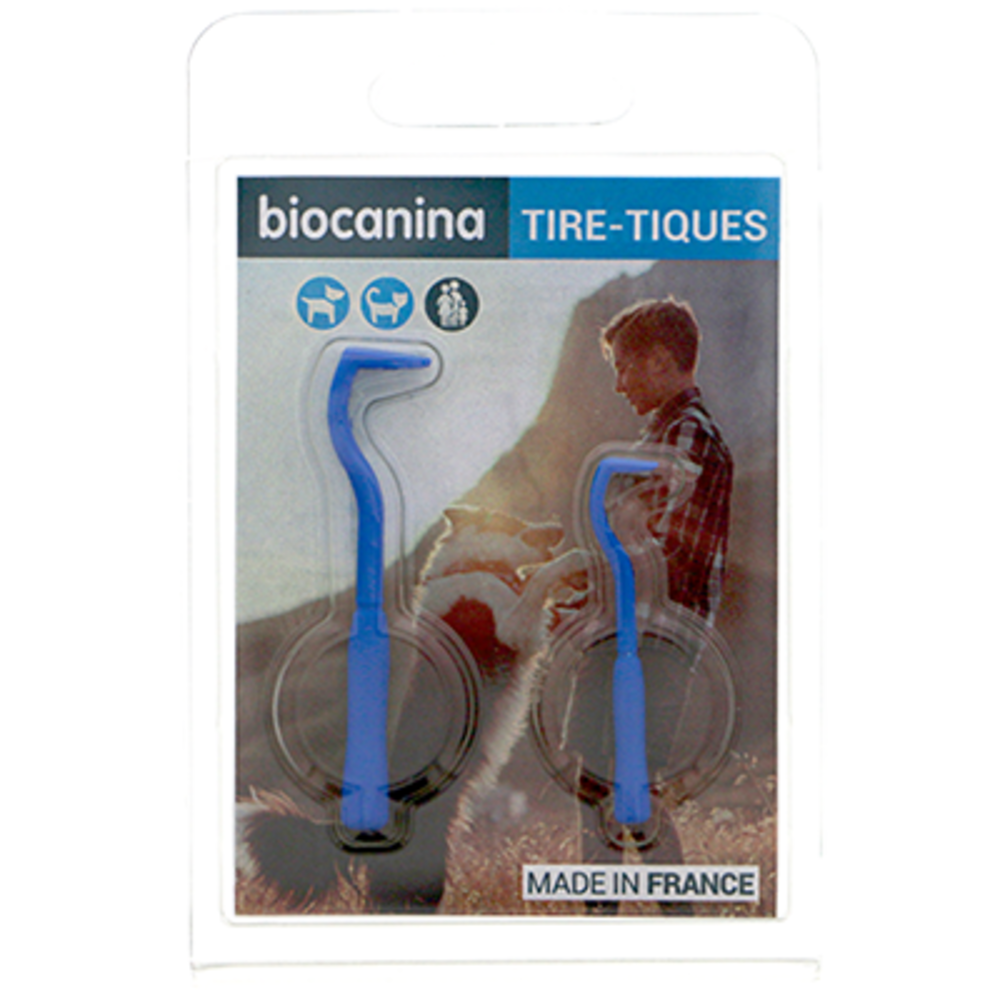 Tire-tiques 2 crochets - biocanina -215435