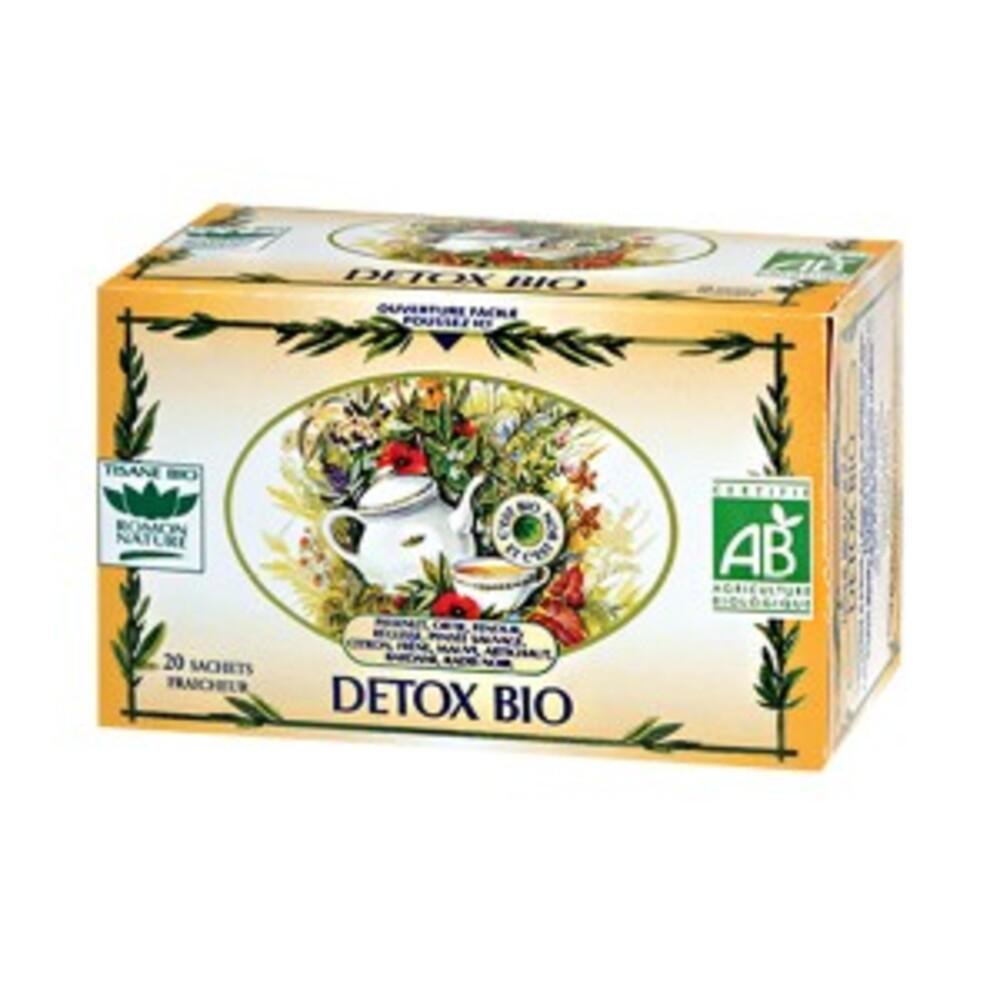 Tisane detox bio - boîte de 20 sachets - divers - romon nature -137857