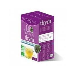 Tisane thym bio, voies respiratoires - 20 sachets - divers - nutrisensis -137187
