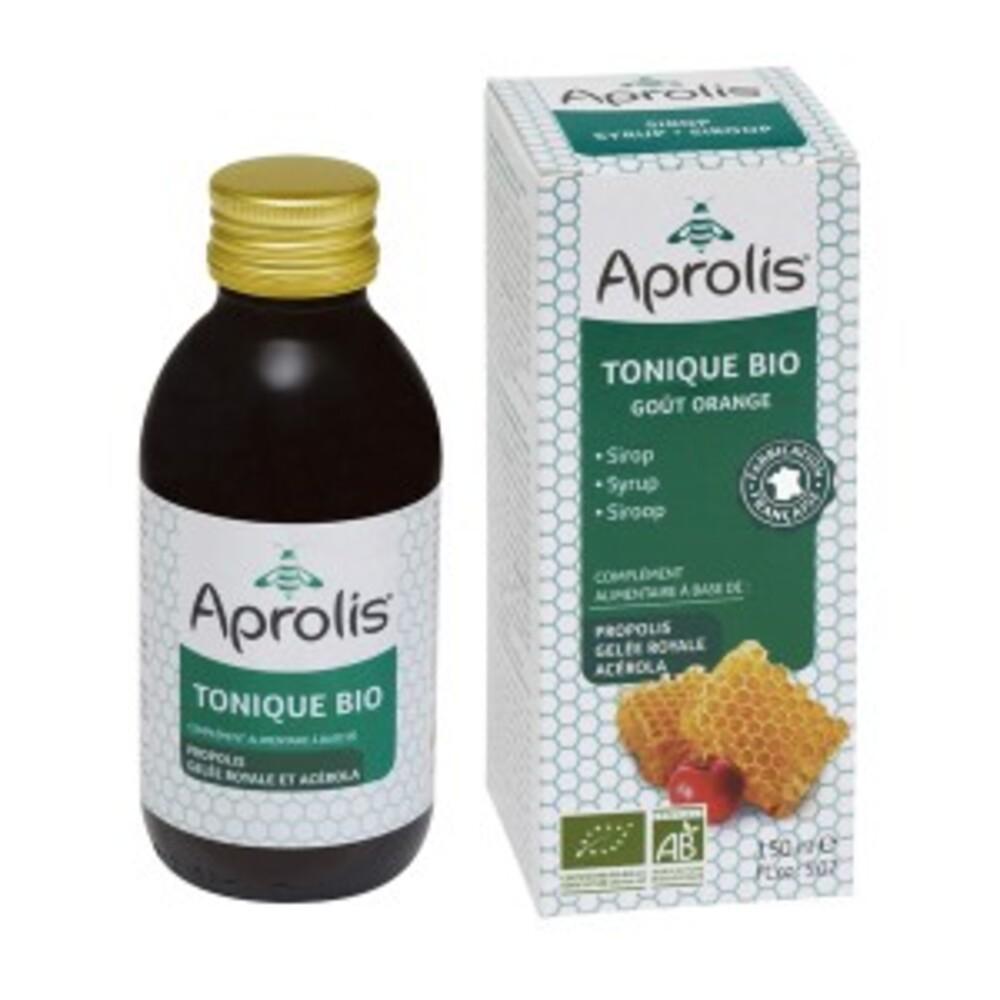 Tonique sirop : miel, propolis, geée royale bio - 150.0 ml - sirops concentrés - aprolis -14814