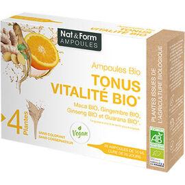 Tonus vitalité bio ampoules bio - nat & form -223715