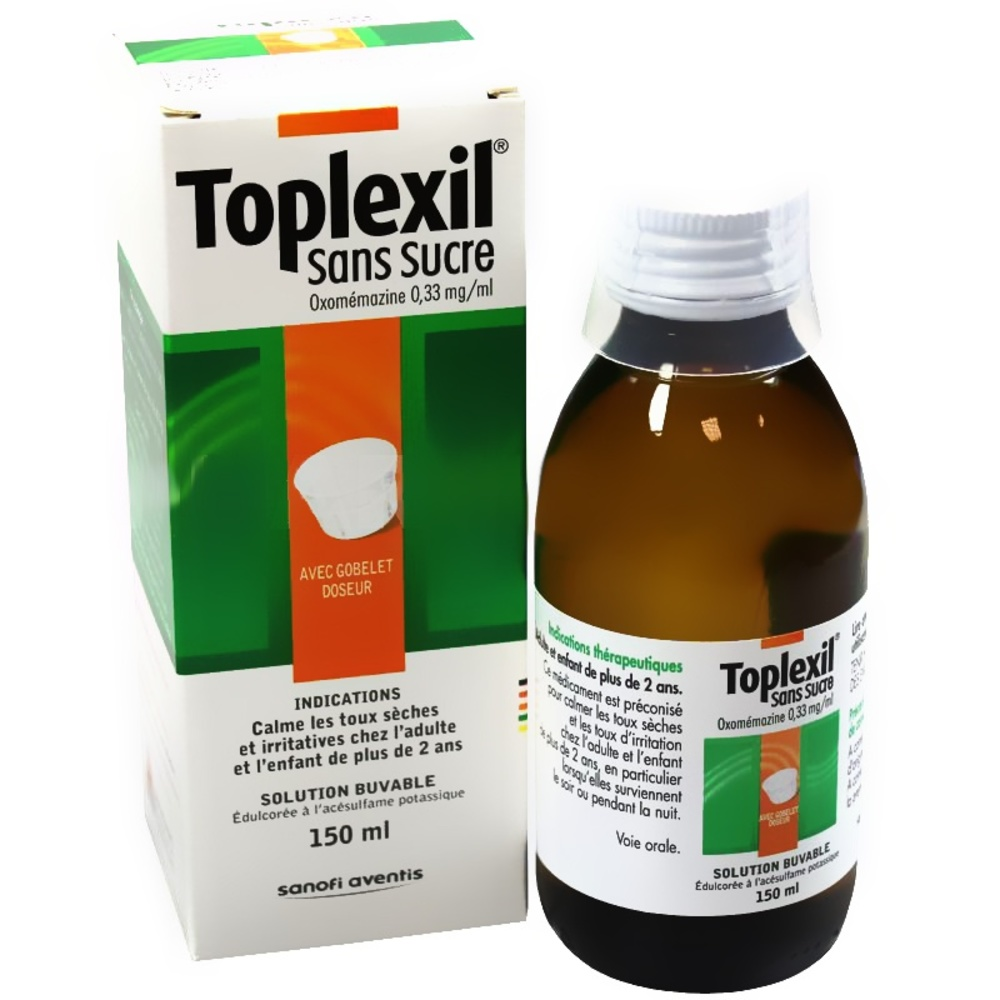 Toplexil sirop sans sucre - 150.0 ml - sanofi -192775