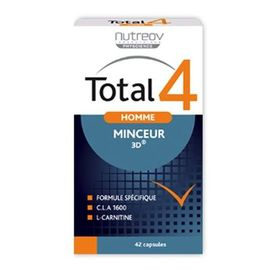 Total 4 homme programme minceur express 42 capsules - nutreov -220857