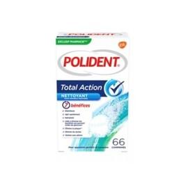 Total action nettoyant 66 comprimés - polident -211274