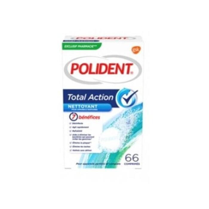 Total action nettoyant 66 comprimés Polident-211274