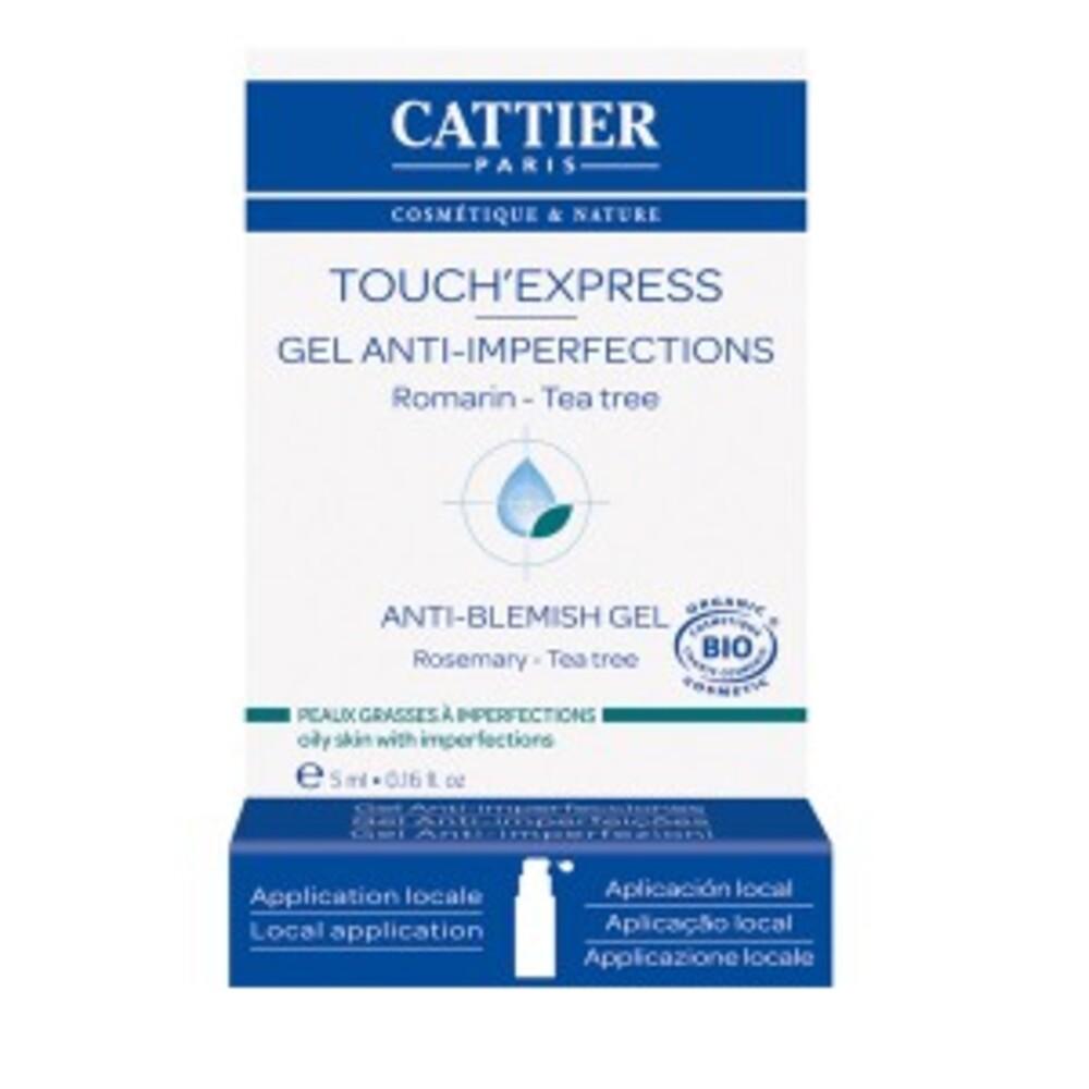 Touch'express concentré actif bio - 5.0 ml - soins peaux jeunes - cattier Assèche les boutons-1548