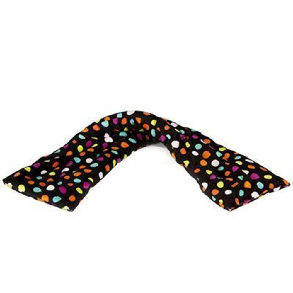 Tour de cou bandeau bouillotte noir pois multicolores Pelucho-223280