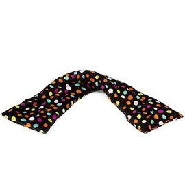 Tour de cou bandeau bouillotte noir pois multicolores - pelucho -223280