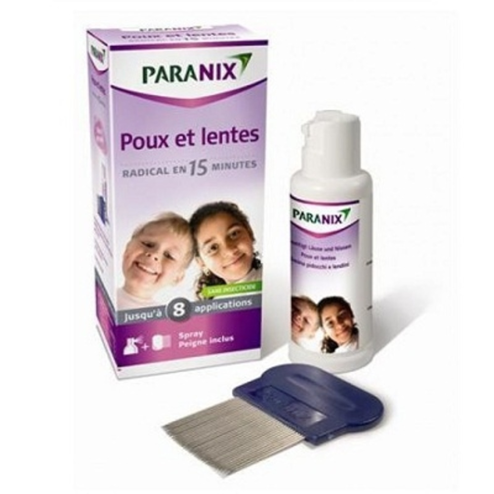 Traitement anti-poux et lentes spray 100ml + peigne - 100.0 ml - anti poux - paranix -124583