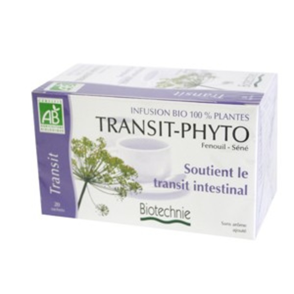 Transit phyto infusion bio - 20 sachets - divers - biotechnie -134305