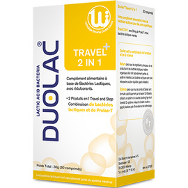 Travel+ 2-in-1 - 30 comprimés - duolac -225781