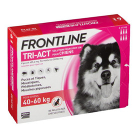 Tri-act chiens 40-60kg - 6 pipettes - frontline -205443