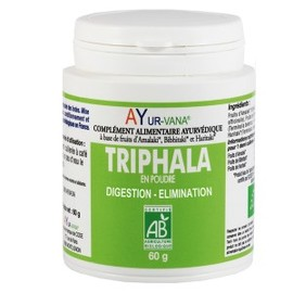 Triphala bio poudre - flacon de 60 g - divers - ayur-vana -133599