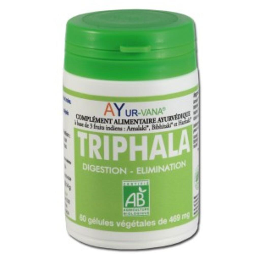 Triphala gélules bio - 60.0 unités - compléments alimentaires - ayur-vana -105190