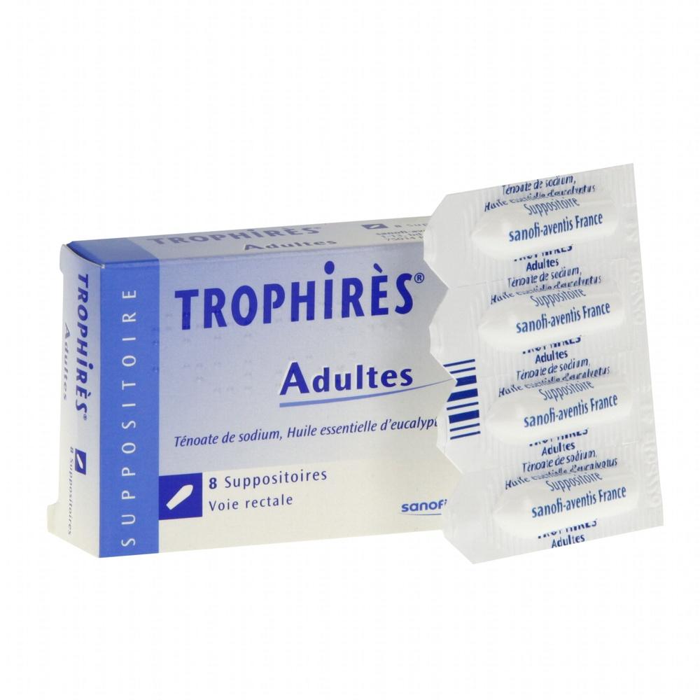 Trophires adultes - 8 suppositoires - sanofi -193077