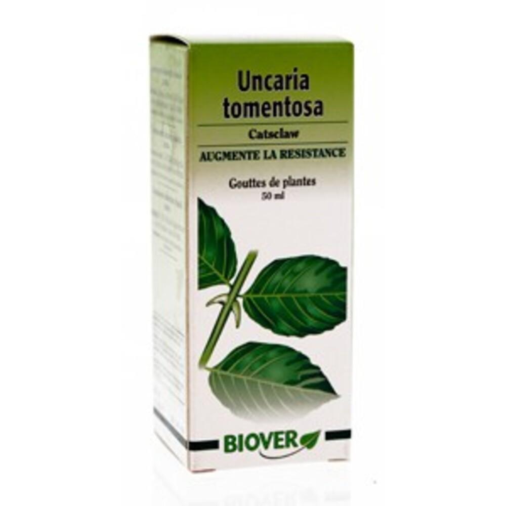 Uncaria tomentosa (cats claw) - 50.0 ml - gouttes de plantes - teintures mères - biover Stimule le système immunitaire-8996