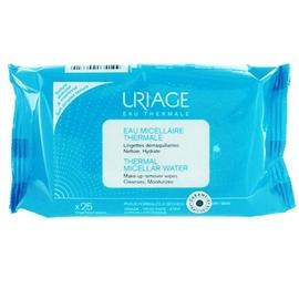 Uriage eau micellaire thermale 25 lingettes démaquillantes - uriage -203739