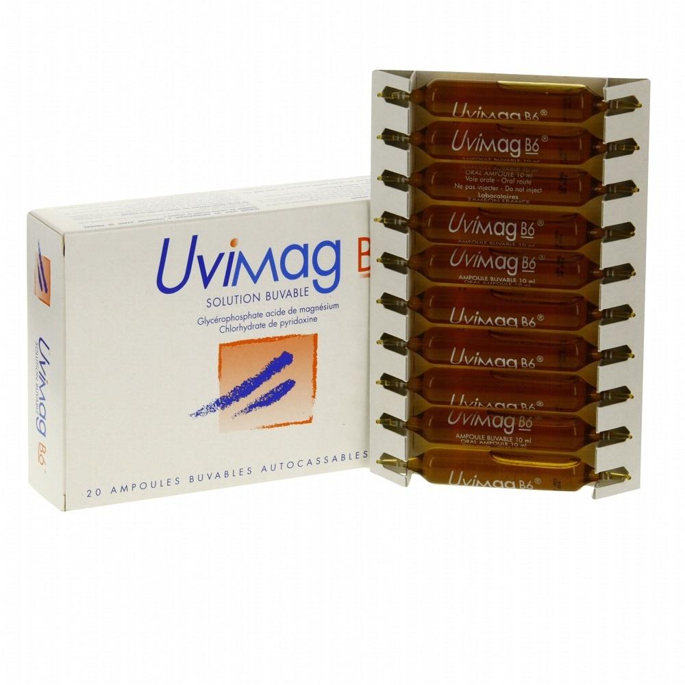 Uvimag b6 - 20 ampoules x 10ml - zambon -206930