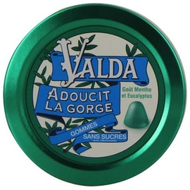 Valda gommes menthe eucalyptus sans sucres - 50.0 unites - confiserie - valda -139353