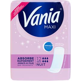 Vania maxi spéciale nuit 12 serviettes - vania -223737